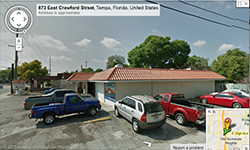 Google Map Screenshot of Blue Sea Tampa